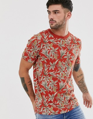 Jack and Jones printed t-shirt in red