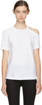 Helmut Lang White Deconstructed T-shirt