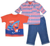 Orange 'Dig' Crewneck Tee Set - Toddler & Boys