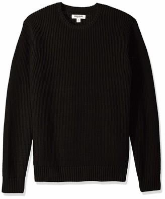 Goodthreads Amazon Brand Men's Soft Cotton Rib Stitch Crewneck Sweater