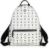 MCM Stark Side Stud Coated Canvas Monogram Backpack