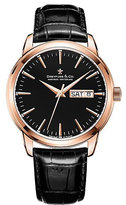 Dreyfuss & Co Men's Black Leather Strap Watch