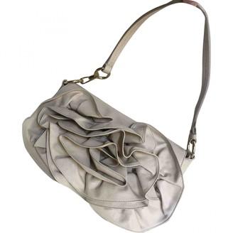 Saint Laurent Ecru Leather Handbags