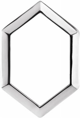 Diamond2deal 14K White Gold 21.68x14.55 mm Geometric Pendant