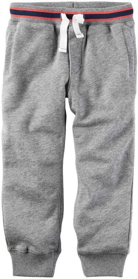 Carter's French Terry Knit Pants - Heather - 3T