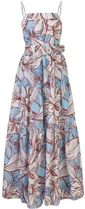 Nicholas Kerala floral-print tiered dress