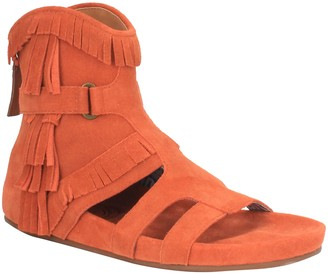 Dingo Women Back Zip Leather Sandals -Sunny Day