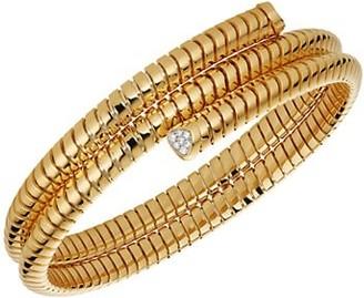 MARINA B 18K Yellow Gold & Pave Diamond Bangle Bracelet