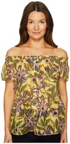 RED Valentino Passion Flower Silk Cotton Top Women's Clothing