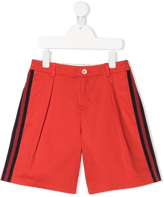 Gucci Kids Embroidered Logo Patch Shorts