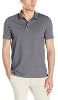 Perry Ellis Men's Two Button Birdseye Texture Polo