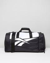Reebok Classics Travel Bag In Black & White
