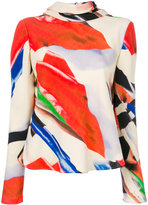 Giorgio Armani flared printed blouse - women - Silk - 42