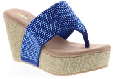 Volatile Women's Sandals BLUE - Blue Rhinestone-Accent Andesa Wedge Sandal - Women