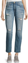 Current/Elliott The Fling Distressed Cropped Ankle Jeans, Loved