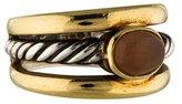 David Yurman Two-Tone Moonstone Cable Ring