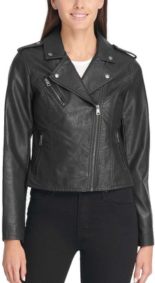 Levi's Women's Faux-Leather Motorcycle Jacket
