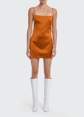 GAUGE81 Bima Open-Back Satin Cocktail Dress