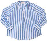Anne Kurris Striped Cotton & Silk Blend Muslin Shirt