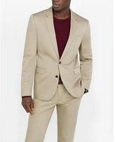 Express skinny innovator khaki cotton sateen suit jacket
