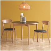 Suki 2 seater dining set with black table and 2 Sophie chairs