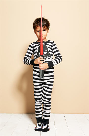 Hanna Andersson Boy's Darth Vader(TM) Organic Cotton Fitted Two-Piece Pajamas