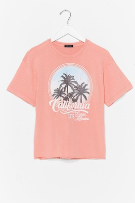 Nasty Gal Womens Californication Graphic Tee - Blue - S