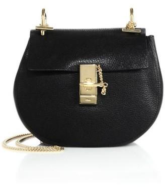 Chloé Small Drew Leather Saddle Bag