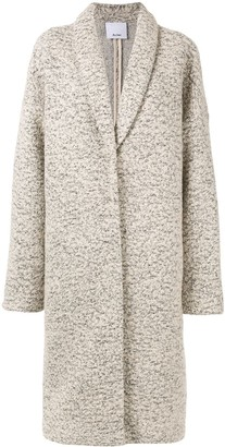 Acler Blair fleck knit midi coat
