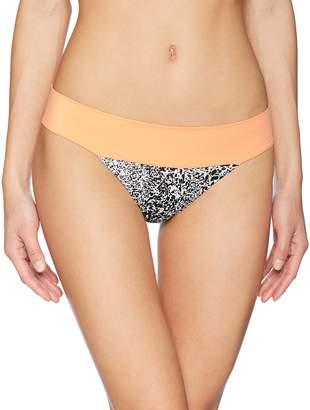 RVCA Junior's Marble Medium Bikini Bottom