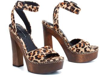 Alice + Olivia Faira Leopard Block Heel