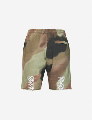Off-White Camo stencil cotton-jersey shorts