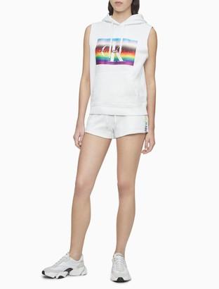Calvin Klein Pride Logo Drawstring Shorts