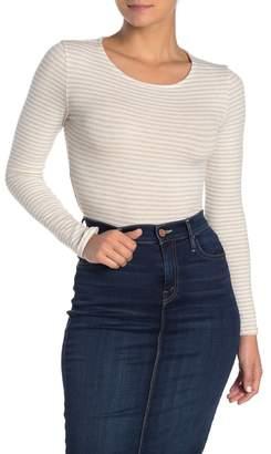 Blvd Long Sleeve Stripe Print Bodysuit