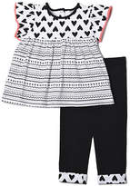 Chick Pea Two-Piece Printed Tunic and Tapered Leggings Set