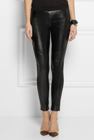 MICHAEL Michael Kors Stretch faux leather and jersey leggings