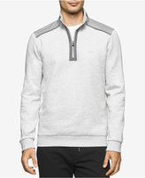 Calvin Klein Men's Quarter-Zip Mixed-Media Sweater, A Macy's Exclusive Style