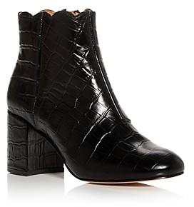 Andre Assous Women's Selena Croc-Embossed Block-Heel Booties