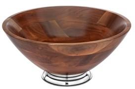 Godinger Wood & Metal Bowl