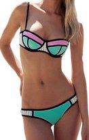 Ebuddy Women Crochet Neoprene Bikini Wet Suit Swimwear Swimsuit