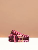 Diane von Furstenberg Perforated Whipstitch Belt