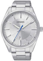 JCPenney Citizen Quartz Citizen Mens Silver-Tone Dial Stainless Steel Watch BI1030-53A