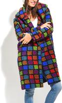 Everest Purple Block Wool-Blend Peacoat