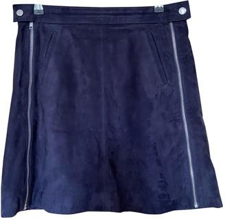 Comptoir des Cotonniers Blue Leather Skirt for Women