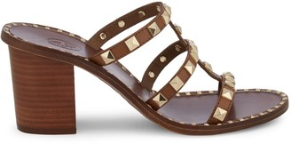 Ash Playa Studded Leather Heeled Sandals