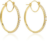 Ila Maneva 14K Gold Diamond Hoop Earrings
