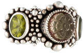 Stephen Dweck Carved Quartz & Peridot Ring
