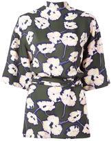 Marni Whisper print open back blouse - women - Viscose - 42