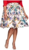Unique Vintage Plus Size Swing Skirt