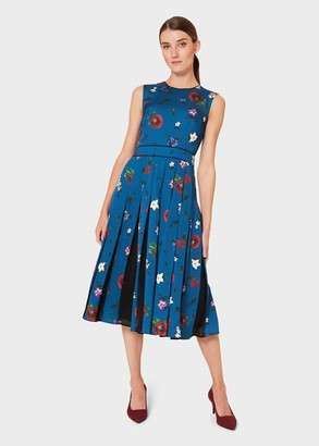 Hobbs Beatrix Satin Floral Fit And Flare Dress
